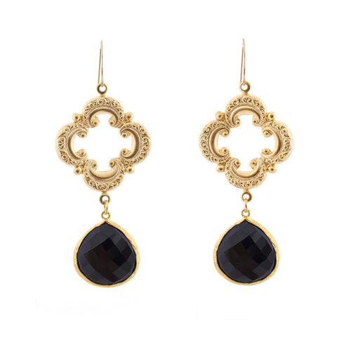 Sophia Earrings - Black Onyx