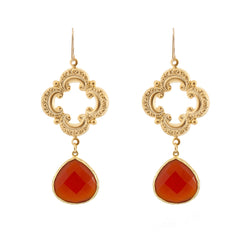 Sophia Earrings - Carnelian