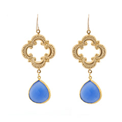 Sophia Earrings - Denim Chalcedony
