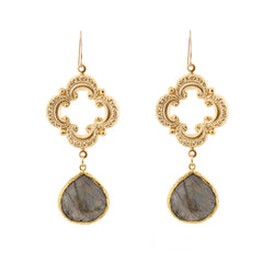 Sophia Earrings - Labradorite