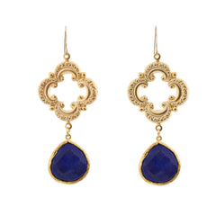 Sophia Earrings - Lapis