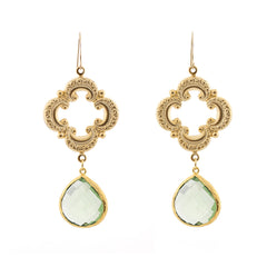 Sophia Earrings - Green Amethyst