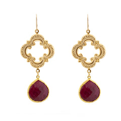 Sophia Earrings - Ruby