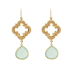 Sophia Earrings - Seafoam Chalcedony