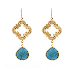 Sophia Earrings - Turquoise