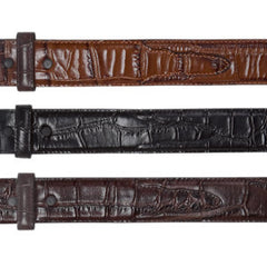 Embossed Crocodile Belt