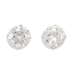 Stud Sterling CZ Earrings - From 3 to 10 mm