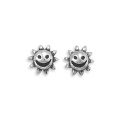 Stud Silver Sun Earrings