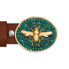 Gold Charm Bee Turquoise Buckle