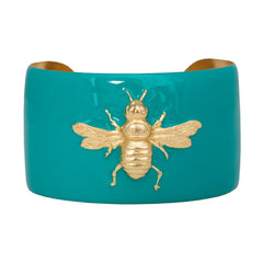 Cuff Bracelet - Turquoise Bee