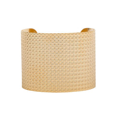 Brushed Gold Basket Weave Cuff