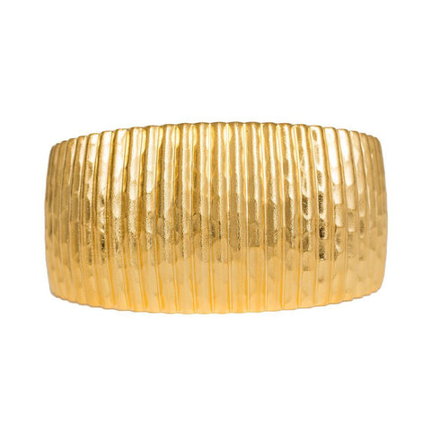 Brushed Gold Fluted Cuff
