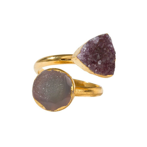 Drusy Squeezy Ring - Combination Shape