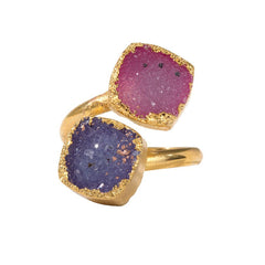 Drusy Squeezy Ring - Circle