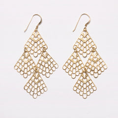 Filigree Honeycomb Cluster Earrings