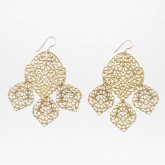 Filigree  Aspen Leaf Cluster Earrings