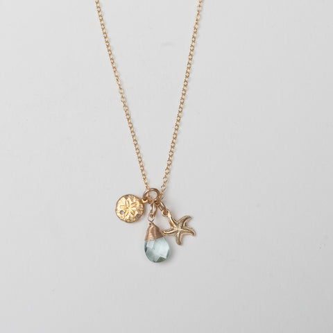 Cluster Ocean Charm Necklace