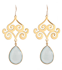 Pasha Taj Mahal Earrings - Green Amethyst