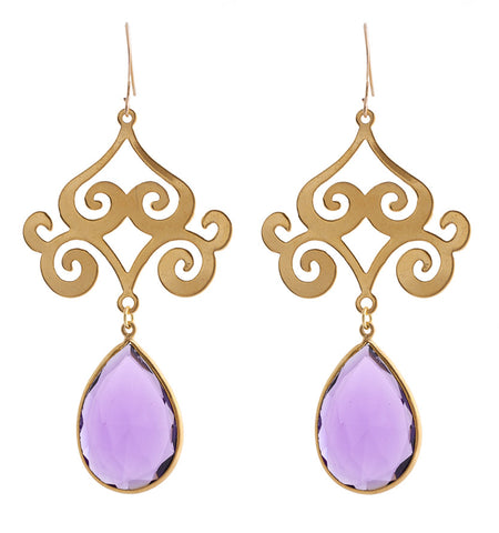 Pasha Taj Mahal Earrings - Amethyst