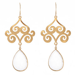 Pasha Taj Mahal Earrings - Rainbow Moonstone