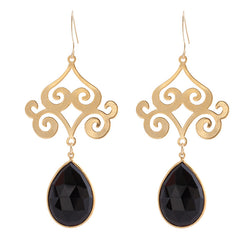 Pasha Taj Mahal Earrings - Black Onyx