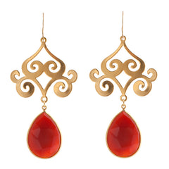 Pasha Taj Mahal Earrings - Carnelian