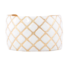 Quilted Cuff Bracelet - White