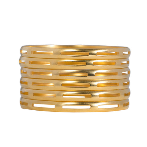 Brushed Cage Bangle Bracelet