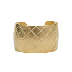 Brushed Gold Quilted Cuff
