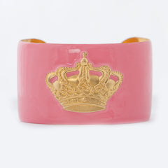 Cuff Bracelet - Light Pink Crown
