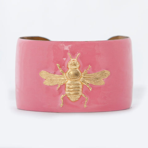 Cuff Bracelet - Light Pink Bee