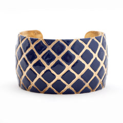 Quilted Cuff Bracelet - Navy