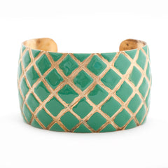 Quilted Cuff Bracelet - Seafoam Turquoise