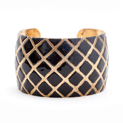 Quilted Cuff Bracelet - Black