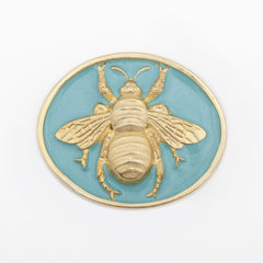 Enamel Queen Bee Buckle - Aqua