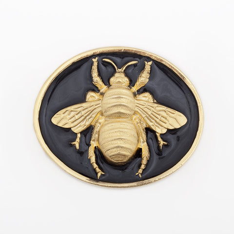 Enamel Queen Bee Buckle - Black