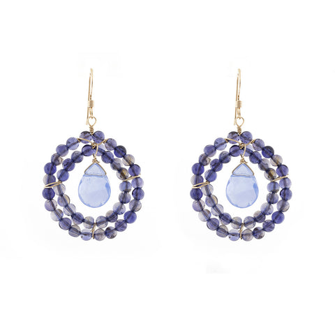 Kallie Earrings Double Row earrings - Iolite
