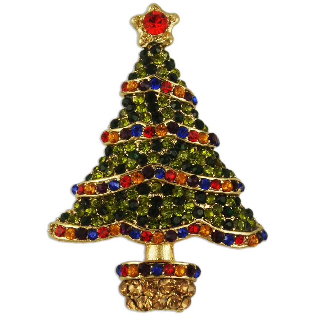 BB2192 CHRISTMAS TREE BROOCH