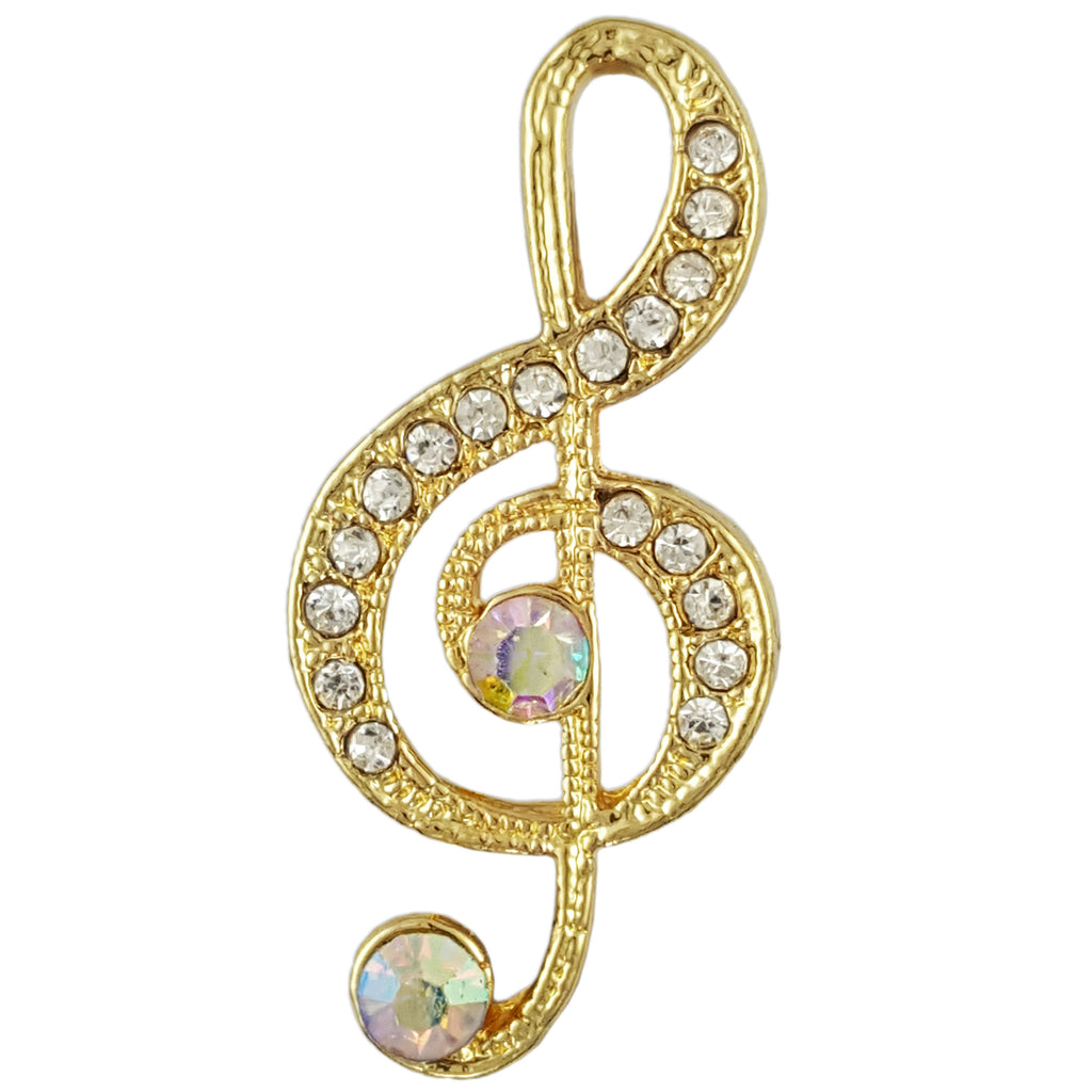 BB2269 G (TREBLE) CLEF NOTE MUSIC SIGN BROOCH