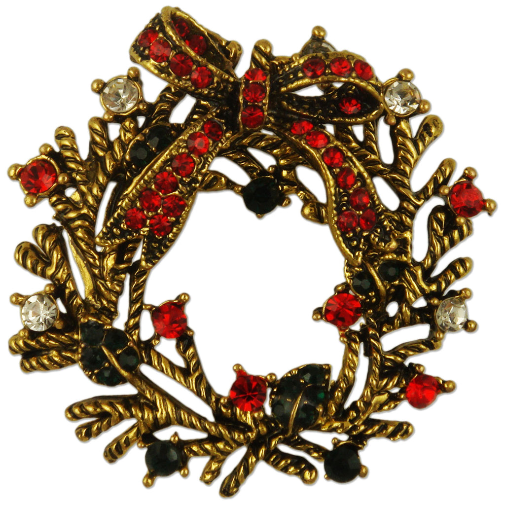 BB22954 WREATH BROOCH
