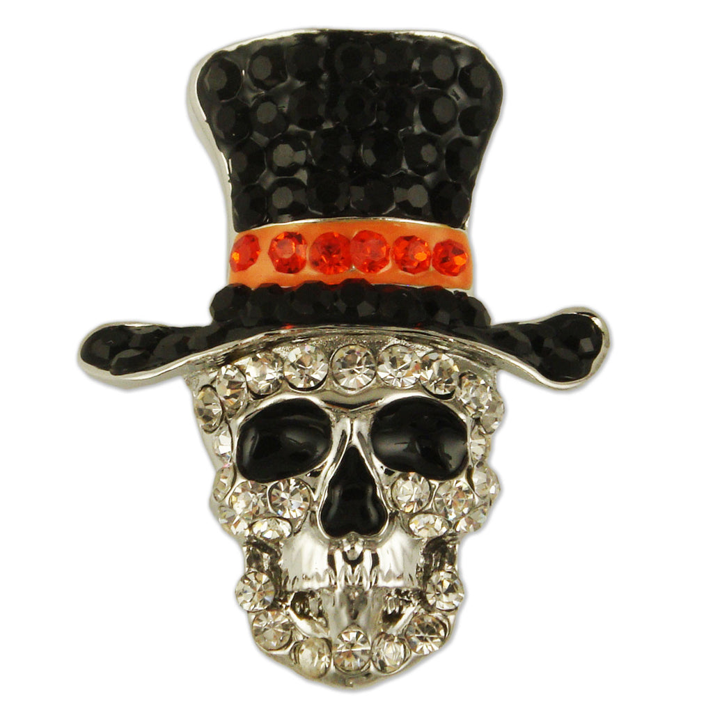BB2861 SKELETON HEAD BROOCH