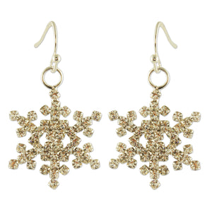 BE001 SNOWFLAKE EARRING