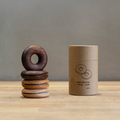 TB027 Wooden Donut Bag / Snack Clips