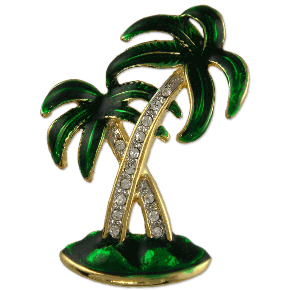 GB2371 PALM TREE BROOCH