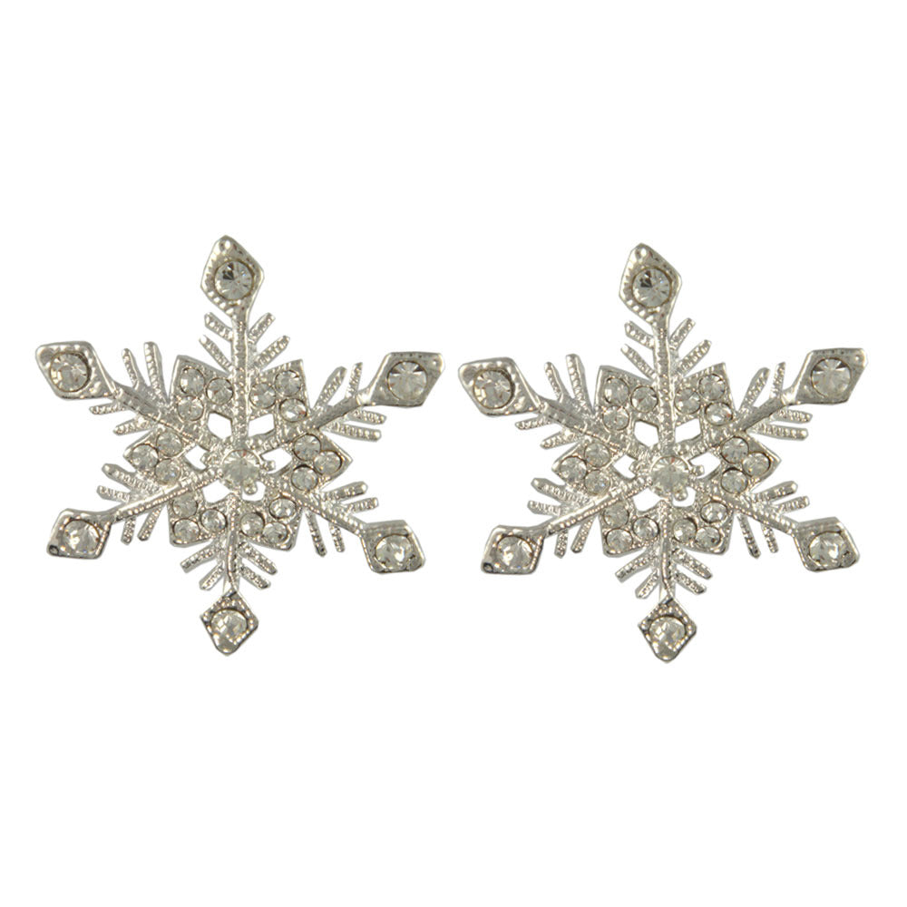 GE2446 SNOWFLAKE EARRINGS