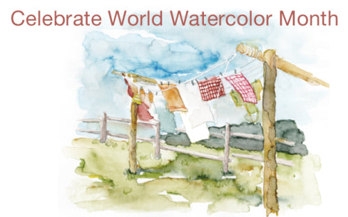 Watercolor Clothing Line Painting