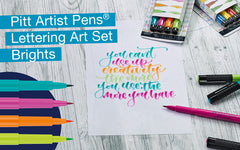 Pitt Artist Pen Brights Lettering Art Set