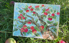 Vincent Van Gogh Inspired Art Lesson for Kids - Apple Orchard