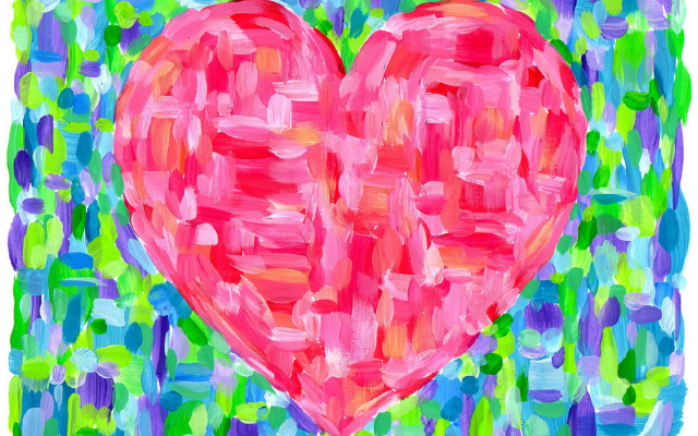 Painted heart