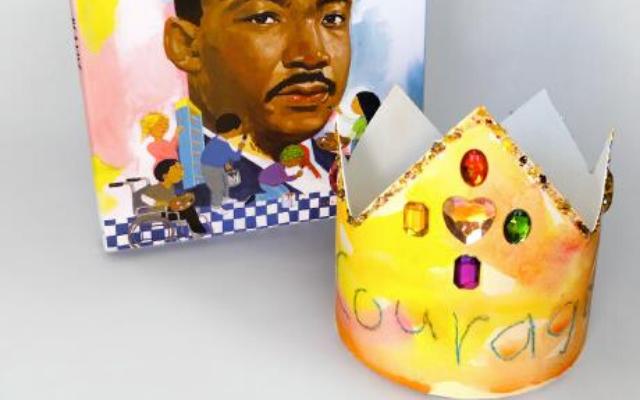 Martin Luther King Jr. and Paper Watercolor Crown